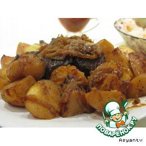 Рецепт: Мясо в фольге, запеченное в духовке