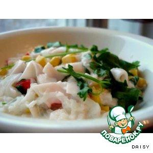 Рецепт Салат из дайкона с крабовым мясом