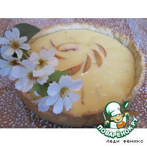 Рецепт Деревенский пирог с персиками