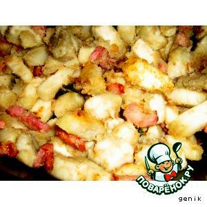 Рецепт Американский сладкий картофель(батат) с корейкой