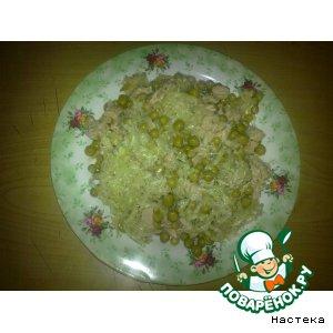 Рецепт Салат из зеленой редьки и свинины