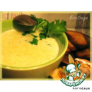 Рецепт Сырный суп-пюре с брокколи