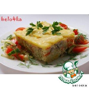Рецепт Запеканка рисово-картофельная с курицей