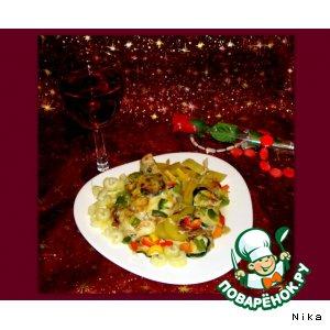 Рецепт Куриное филе, запеченное с  овощами