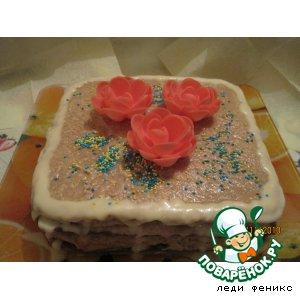 Кофейно-черничный торт простой рецепт с фотографиями пошагово