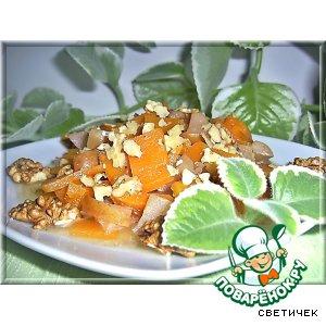 Рецепт Тыква, тушeнная с яблоками в горшочке