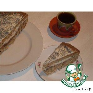 Рецепт Пряная маковая коврижка с творожной глазурью