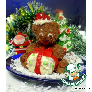"Рецепт Новогодний десерт  ""Медвежонок"""