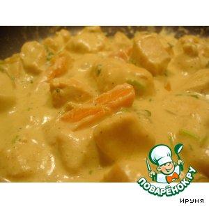 Рецепт Рагу из индейки с морковью