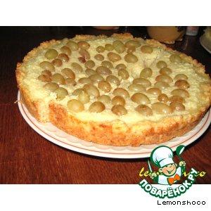 Рецепт Творожный пирог с виноградом