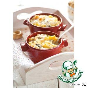 Рецепт Горшочки с картофельным пюре и морскими деликатесами