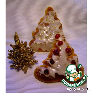 Рецепт Сладкие булочки «Новогодняя eлка»