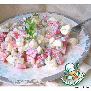 """Рецепт Грузинский салат """"Яблоко и перец"""""""