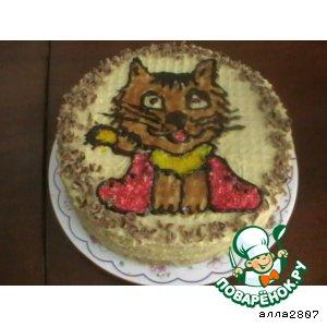 Торт Кот в сапогах