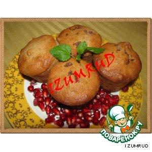 Рецепт Гранатовые кексы