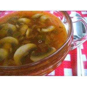 Рецепт Постный суп с грибами и фасолью