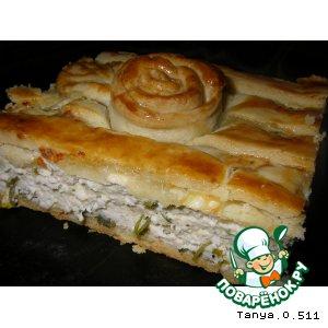 Рецепт Пирог из песочного теста с курицей