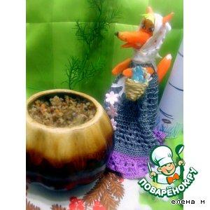 """Рецепт Куриные крылышки с грибами и гречневой кашей """"Мечта Патрикеевны"""""""