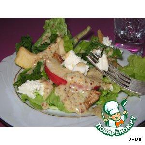 Рецепт Салат с яблоками и фетой