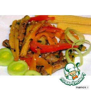 Рецепт Теплый салат с говядиной