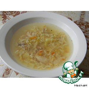 Рецепт Куриный суп с вермишелью и яйцом