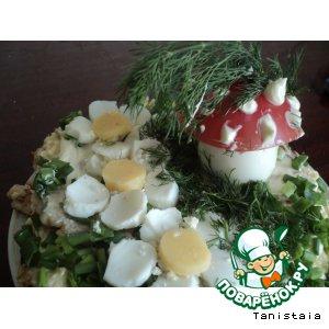 """Рецепт Закусочный торт """"Лесная полянка"""""""