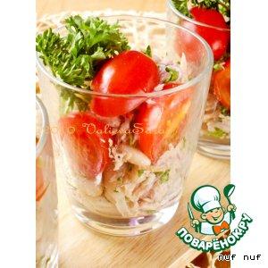 Рецепт Салат из тунца с белой фасолью и помидорами