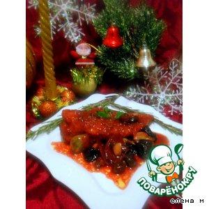 """Рецепт Куриное филе под пикантным соусом """"Новогодний маскарад"""""""