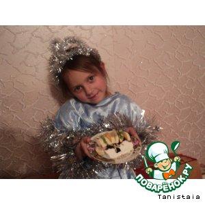 """Рецепт Десерт """"Чудеса зимней полянки"""""""