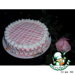 Рецепт Торт «Розовый снег»