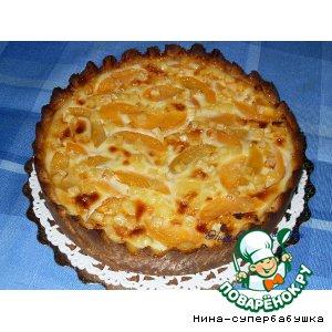 Рецепт Киш Лорен с персиками и сыром бри