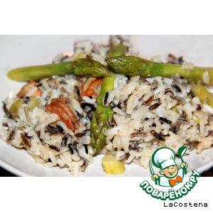 Рецепт Рис со спаржей и креветками