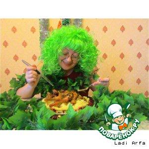 """Рецепт Блюдо """"Гуси-лебеди"""" для Бабы-Яги"""