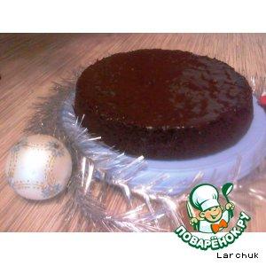 Рецепт Шоколадно-медовый торт в шоколадной глазури