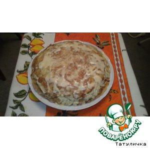 "Рецепт Блинный пирог ""А ля пицца"""