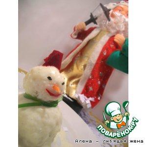 """Рецепт """"Снеговик с сюрпризом"""" для Деда Мороза"""