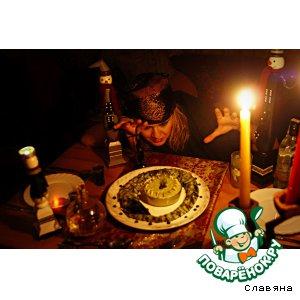 """Рецепт Угорь запечeнный с соусом из брокколи """"Змеюшка подколодная для Кощея Бессмертного"""""""