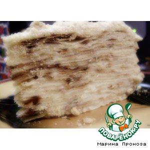 """Рецепт Жареный торт """"Наполеон"""" с заварным кремом"""