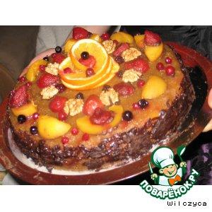 Рецепт Творожно-фруктовый тортик