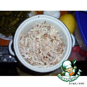 Рецепт Салатик из кальмарчиков