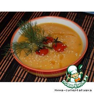 Рецепт Крем-суп из тыквы с грушей и рукколой