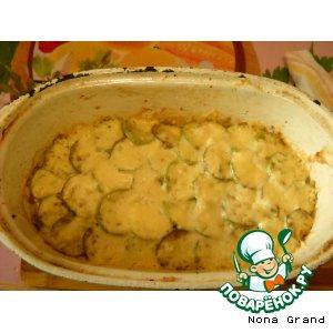 Рецепт Кабачки слоеные под сыром и чесноком