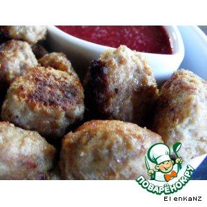 Рецепт Фрикадельки из фарша индейки с клюквенным соусом