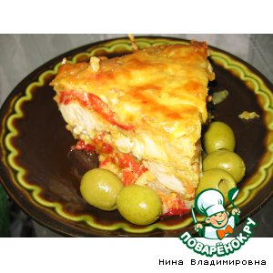 Рецепт Молоки рыбные, запеченные с овощами под сыром