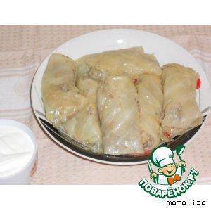 Рецепт Голубцы с печенью и фасолью