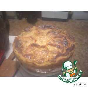 Рецепт Картофельный пирог с фаршем и баклажанами