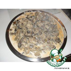 Рецепт Индюшатина с грибами в сливочном соусе с карри