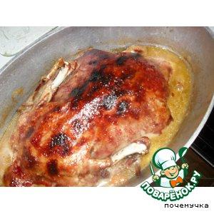 Рецепт Рождественская утка в вишнево-винном соусе