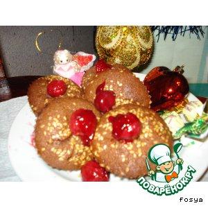 Рецепт Кексы с ирисками и вишней