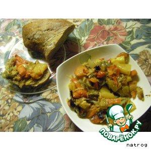 Рецепт Овощная запеканка-рагу  «Желудок отдыхает»